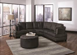 Grey Leather Sofa Sectional by Curved Leather Sofa Sectional Centerfieldbar Com