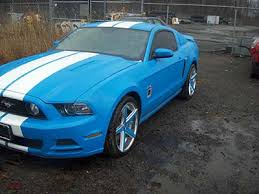 sky blue mustang 2013 ford mustang one souped up ride government auctions