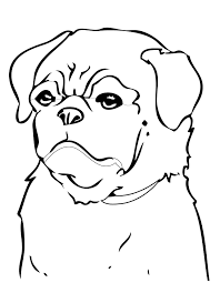 pug coloring page handipoints