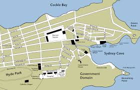 Sydney Map Lachlan And Elizabeth Macquarie Archive Maps