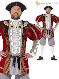 mens king henry viii 8th fancy dress costume tudor medieval