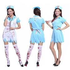 Nurse Costume Halloween Shop 2017 Bloody Doctor Nurse Costume Women Lady