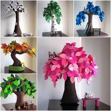 beautiful felt trees for your home