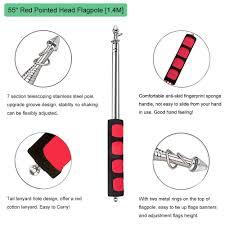 Seasonal Designs Flag Pole Amazon Com Guide Flag Pole Bonytek Telescoping Stainless Steel