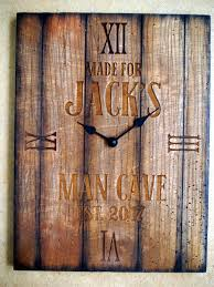 personalized rustic wall clock your engraved message on a