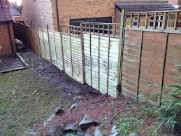 new fence trellis installation tidy gardens