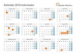 Kalender 2018 Hari Raya Idul Fitri Feiertage 2018 Indonesien Kalender übersicht