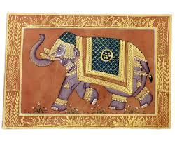 indian elephant painting handcrafted home decor by skilled artisans