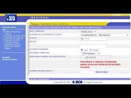 Klikbca Individual Cara Transfer Via Klikbca Ke Bank