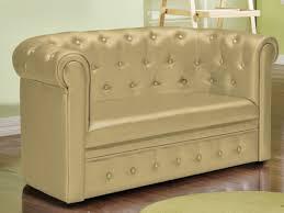 fauteuil canapé enfant canapé pour enfant chesterfield simili 3 coloris