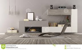 modern lounge with fireplace stock illustration image 86372663