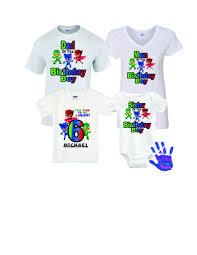 pj mask birthday shirt pj mask family birthday shirts