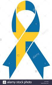 Sweden Flag Image Sweden Terror Condolence Ribbon In Swedish National Flag Colors
