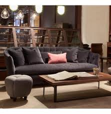 luccia hollywood regency feather down charcoal grey sofa 84 inch