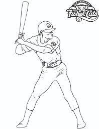 baseball player coloring free coloring pages art