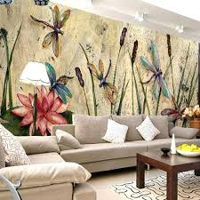 vintage wallpaper art custom boiler com personalized dragonfly lotus mural wallpapers eurpoean vintage large photo murals oil painting print decal wall art