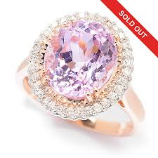 gem gold rings images Gem treasures 14k rose gold 4 47ctw kunzite diamond halo ring