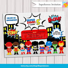 superhero birthday invitations christmanista com