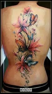 awesome flowers watercolor butterfly tattoomagz