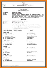 Sample Resume For Ca Articleship Training 100 Resume Format Ca Articleship Resume Samples Articleship