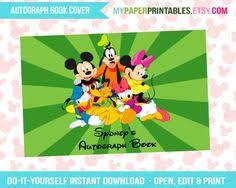 printables disney printables autograph books tickets to