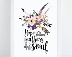 feather quote print wall decor printable decoration