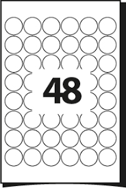 Label Sheet Template Printing Template For Labels 30 Mm Diameter 48 Labels