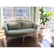 French Settee Loveseat Ethan Allen Evette French Settee Sofa Aptdeco