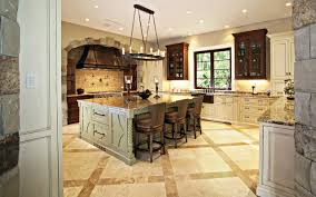traditional kitchen with large island rustic kitchen miami