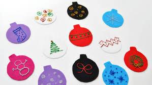 adorable diy felt tree ornaments for