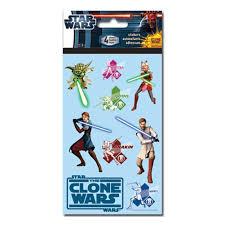 star wars the clone wars sticker set