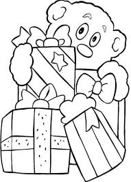 christmas present coloring sheets presents candle and christmas
