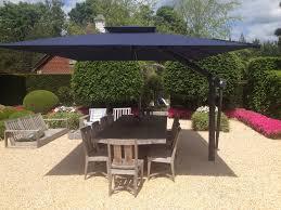 Patio Furniture Set With Umbrella Mesmerizing Patio Exrta Large Umbrella With Teak Furniture Set