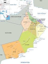 Arabian Desert Map Oman Map