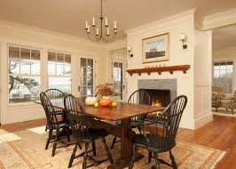 Country Dining Room With Wall Sconce By SiemaskoVerbridge Zillow - Wall sconces for dining room