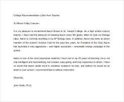example of college recommendation letter teacher mediafoxstudio com