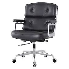office chair in aniline leather color options