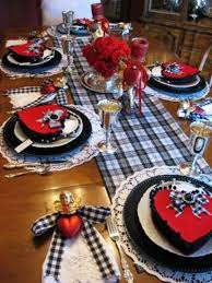 Kitchen Table Setting Ideas Romantic Dinner Table Setting For Decorations Reception Ideas