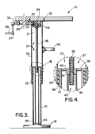 Adjustable Height Desk Crank by Patent Us6935250 Adjustable Height Table With Multiple Legs