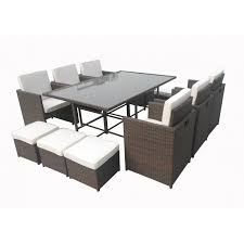 tavoli da giardino rattan da giardino in rattan da 12 posti francy