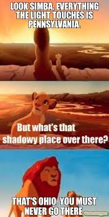 Ohio Meme - look simba everything the light touches is pennsylvania that s