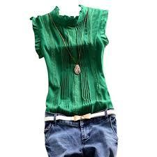 green chiffon blouse retro style reffle shirt chiffon blouse office casual