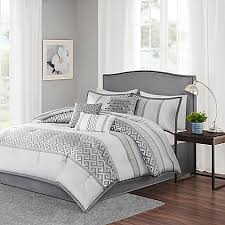 Bedding At Bed Bath And Beyond Madison Park Bennett 7 Piece Comforter Set Bed Bath U0026 Beyond