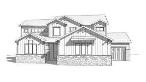 bayview 2 story craftsman style house plan walker home design