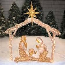 Outdoor Nativity Lighted - details about outdoor nativity store large classic nativity set