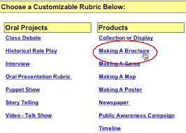 brochure rubric template creating a rubric that will not be saved