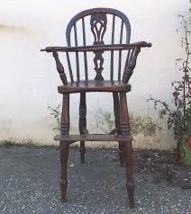 Antique Wood High Chair Antique Yew Wood Child U0027s High Chair Chairs Settles