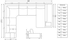 dimension canape canapé d angle tissu design panoramique avec lumière fritsch