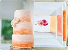 peach ombre wedding cake ombre wedding cakes