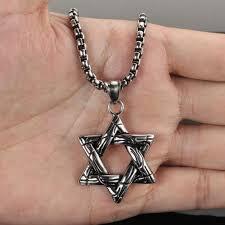 titanium mens jewelry necklace images Vintage star of david pendant necklace women men 316l stainless jpg